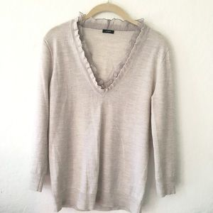 LIKE NEW J. CREW QUATER SLEEVE TOP